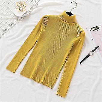 Women Turtleneck Pullovers Soft Primer Shirt Long Sleeve Sweaters