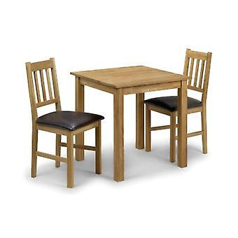 Cox White Solid Oak Square Dining Table And Chairs - Chairs Fully Assembled