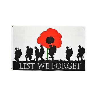 Union Jack Wear Lest We Forget Flag 5' X 3'  ARMY
