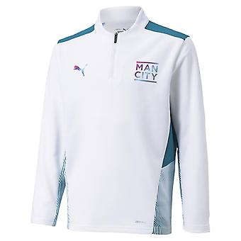Puma Manchester City Quarter Zip Training Top 2021 2022 Junior