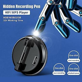 16GB mini hlasový rekordér Jedním kliknutím digitální zvukový záznamník s vestavěným klipem mikrofonu HD