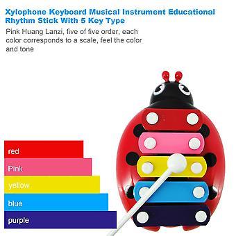 Xylophone Keyboard Musical Instrument Educational Rhythm Stick With 5 Key Type