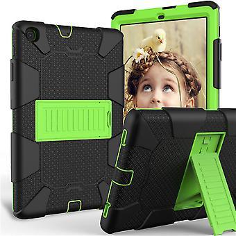 Vhodné pre Samsung Tab A ochranný kryt T510, robot 10.1 T515 Dvojfarebný plochý ochranný kryt s konzolou