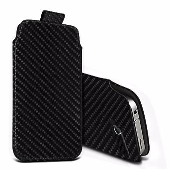 i-Tronixs Premium Stylish Faux Leather Pull Tab Pouch Skin Case Cover For Intex Aqua Ace (5
