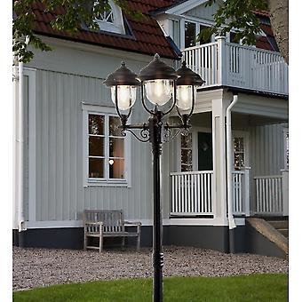 Konstsmide Parma Black Driveway 3 Lantern Outdoor Pole Light