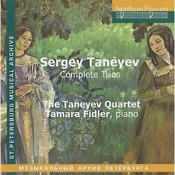 Fidler / Taneyev Quartet - Sergey Taneyev: Complete Trios [CD] USA import
