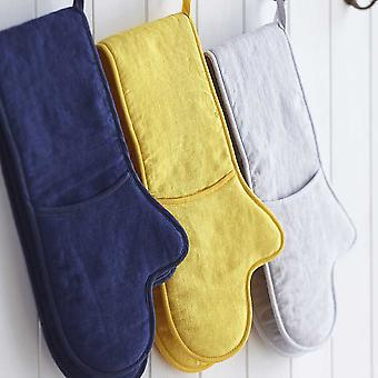 Sophie Conran Norfolk Kitchen - Kitchen Textiles - Linen Grey Double Oven Glove