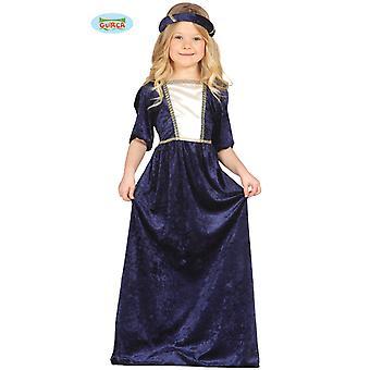 Koningin middeleeuws kostuum adellijke dame jonkvrouw van kasteel kinderen