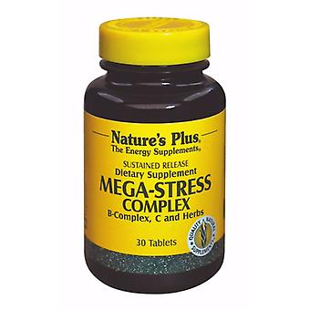 Natures Plus MEGA-STRESS COMPLEX SUSTAINED RELEASE TABLETS 30