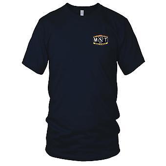 US Navy aseita asiantuntija Luokitus sukellusvene ohjus teknikko kirjailtu Patch - Miesten T-paita