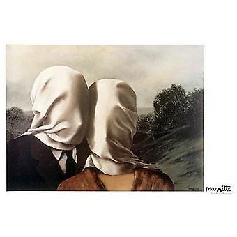 הדפס פוסטרים של Les Amants על ידי רנה Magritte (40 x 28)