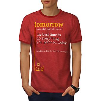 Morgen am besten Männer Heather rot / RedRinger-t-Shirt | Wellcoda