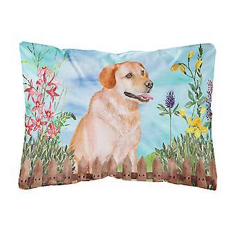 Labrador Retriever Spring Canvas Fabric Decorative Pillow