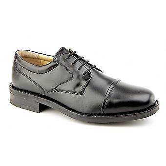 Couro liso de Mens Roamers tampado sapatos formais de Gibson