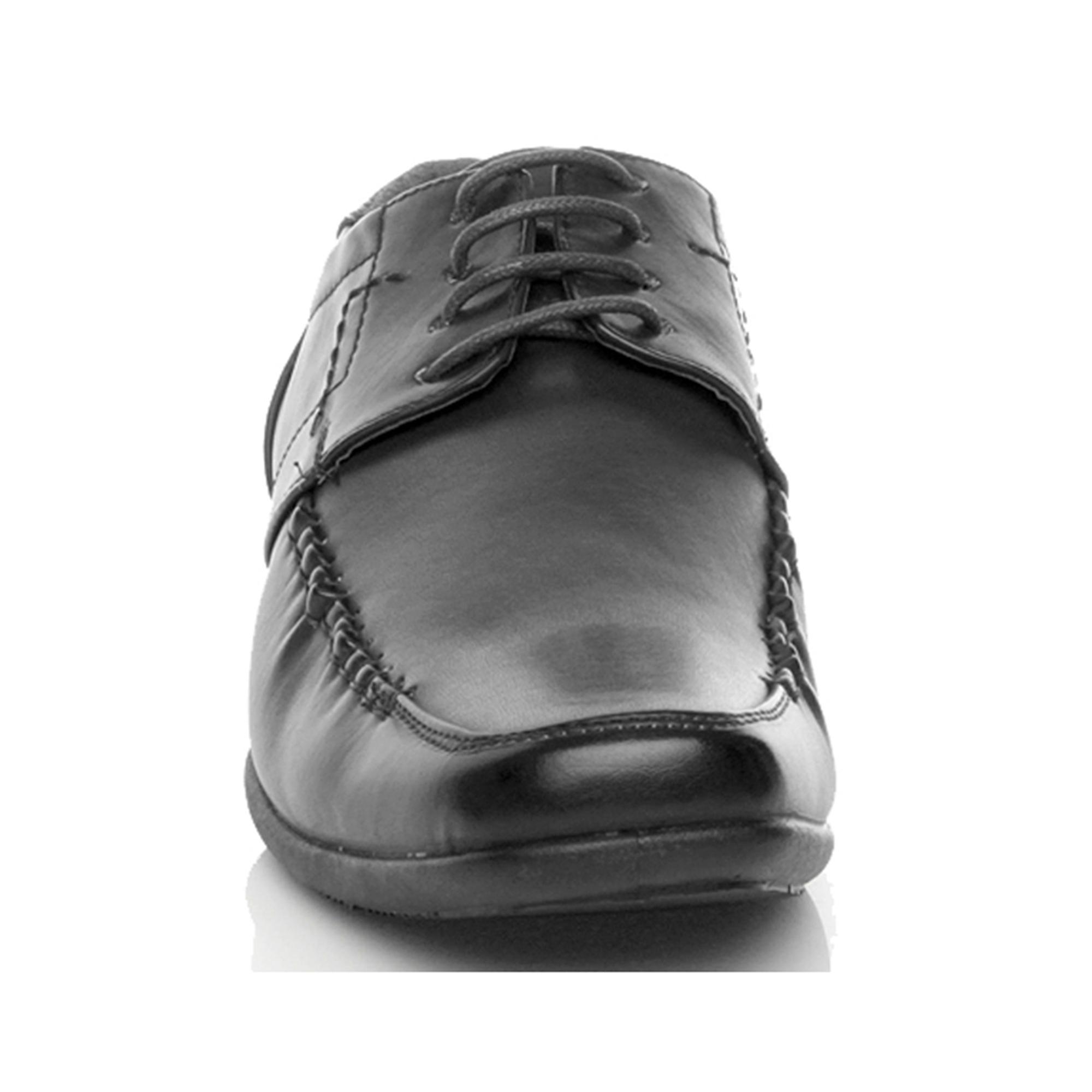 Ajvani mens bas talon orteil carré flexible formelle lacets chaussures de travail intelligent mariage école - Remise particulière
