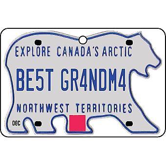 NORTHWEST TERRITORIES - Best Grandma License Plate Car Air Freshener
