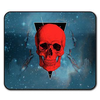 Coole Skull Minimal Anti-Rutsch-Mauspad Pad 24 x 20 cm | Wellcoda