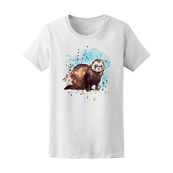 Brown And White Ferret Tee Women's -Image by Shutterstock