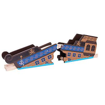 Bigjigs Rail Wooden Shipwreck Bridge Playset Railway Train Track