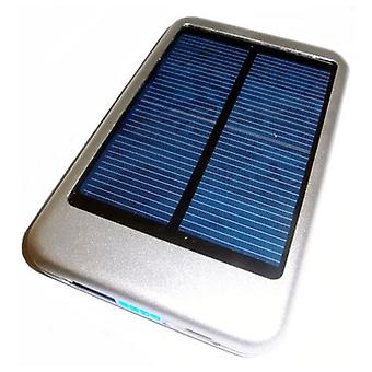 LMS Data Solar Powered Universal PowerBank Charger with USB Port - 5000mAh - Silver (PBK-SOL-S)