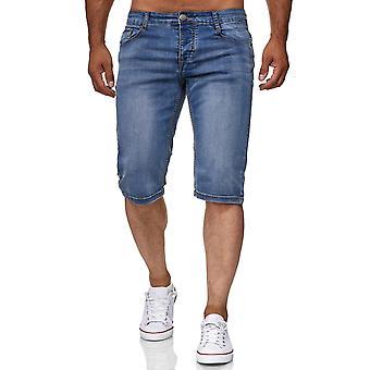 Men's Bermuda Jeans Capri Shorts Cotton Pants Summer Trousers Vintage Cotton Mix