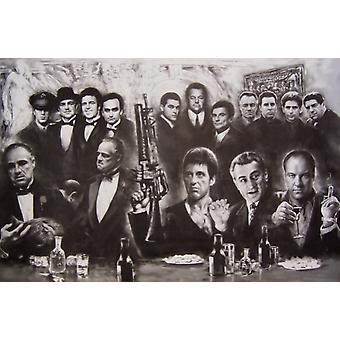 Gangsters Collage Poster Poster Print