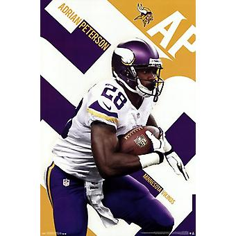 Minnesota Vikings - Peterson 13-Plakat-Druck