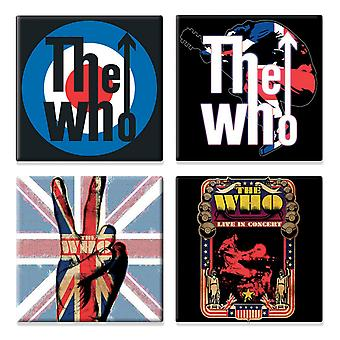 The Who 4 x Fridge Magnet band logo various designs new official Gift set