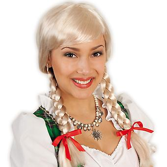 Peruk Franzi Skolflicka pigtails blond