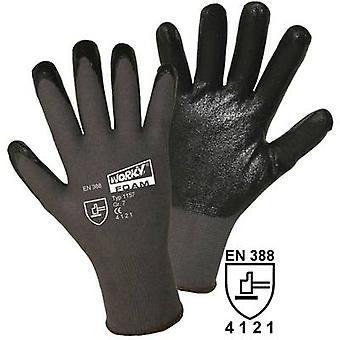 L+D worky FOAM Nylon-Nitril 1157 Nylon Protective glove Size (luvas): 9, L EN 388 CAT II 1 Pair