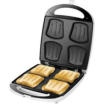Unold Quadro Sandwich toaster hinged White, Black