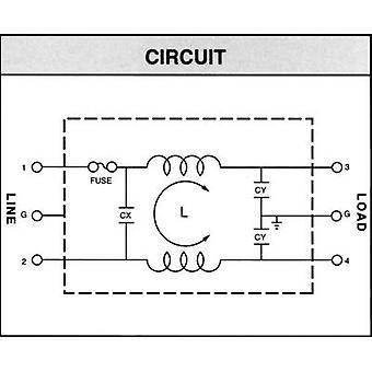 Yunpen YL10T1 Line filter + IEC socket, + fuse 250 V AC 10 A 0.3 mH (L x W x H) 60 x 45 x 33.5 mm 1 pc(s)