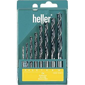 Tige de Heller 205241 cylindre bois twist drill bit set 8 pièces 1 Set