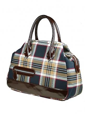 Tartan Handbag E (Stewart Navy)