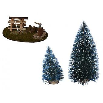 Nativity accessories stable Nativity set saw hack place Christmas trees