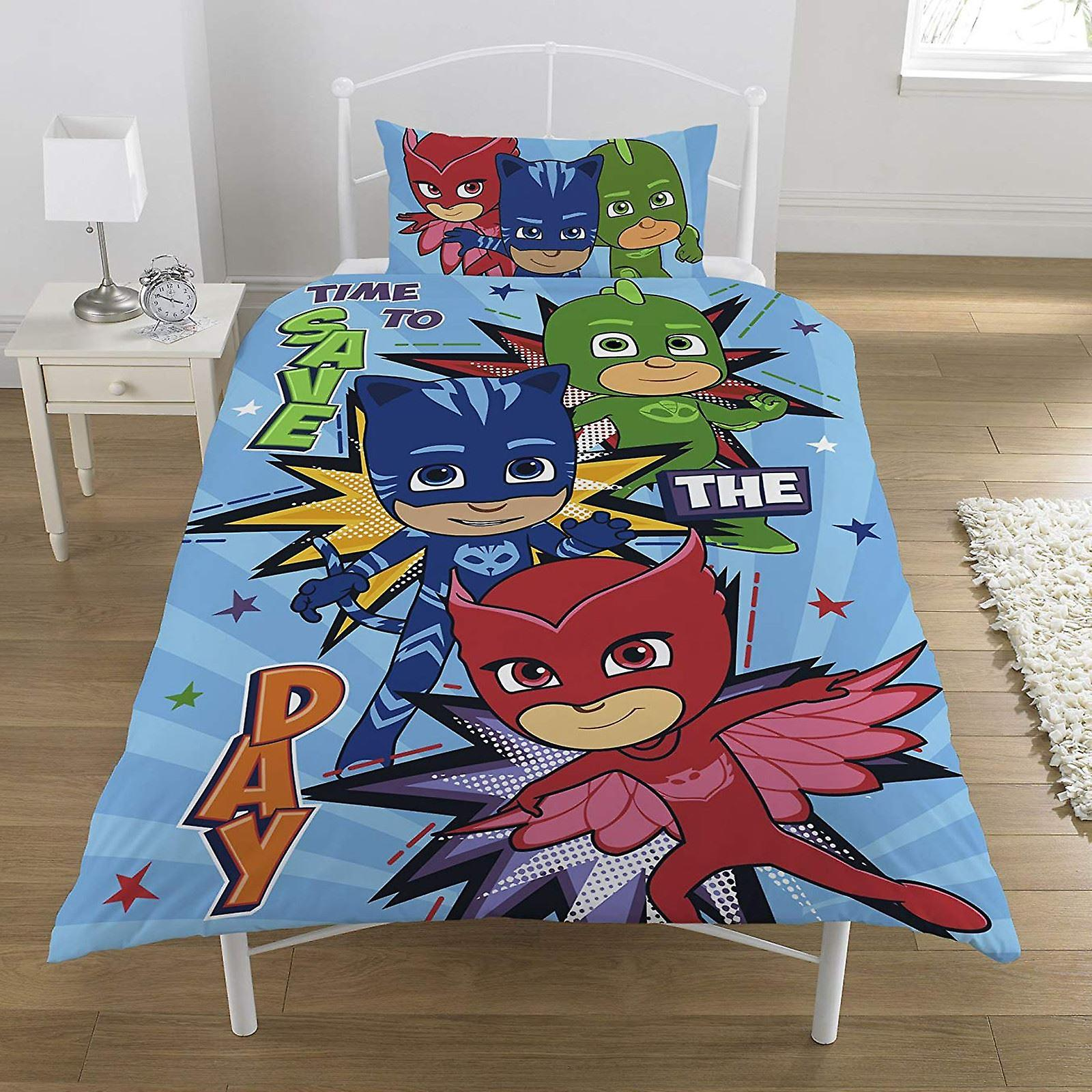 PJ Masks Save The Day Single Duvet Cover