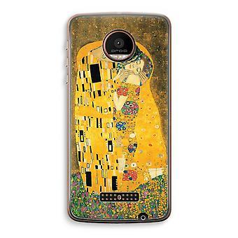 Motorola Moto Z Force transparant Case (Soft) - Der Kuss