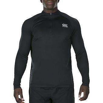 Canterbury Herren Vapodri 1. Schicht Zip Feuchtigkeitstransport Baselayer-Top