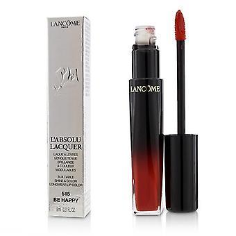 Lancome L'absolu Lacquer Buildable Shine & Color Longwear Lip Color - # 515 Be Happy - 8ml/0.27oz