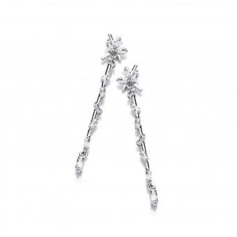 Cavendish French Silver & Cubic Zirconia Icicle Drop Earrings