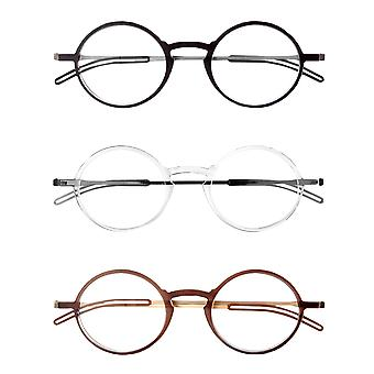 ThinOptics FrontPage Manhattan Reading Glasses with Milano Case