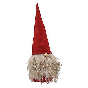 Santa Claus rød/grå tekstil 44 cm