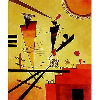 Abstrakti, öljy maalaus kankaalle, 50x60 cm