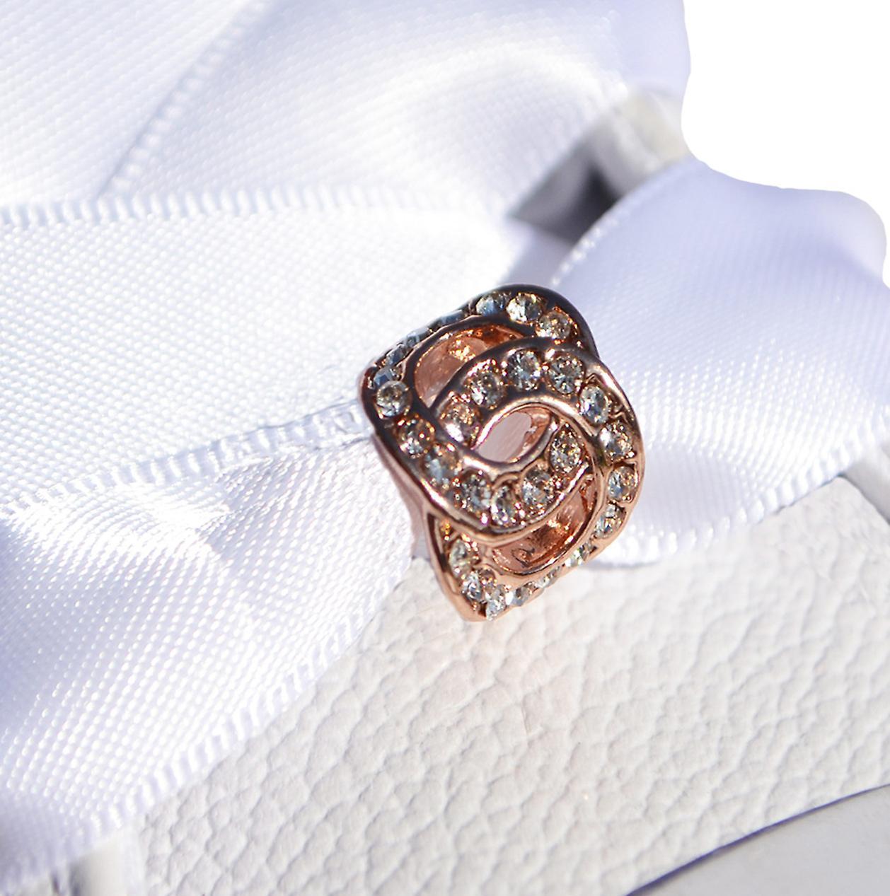 Large Rose Gold Toggle Shoe Charm