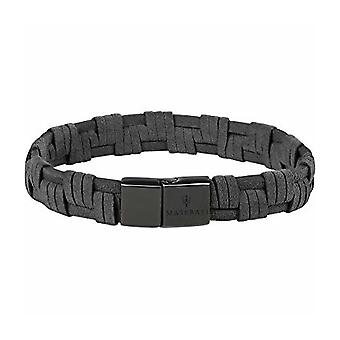 MASERATI - bracelet - mens-steel leather - JM218AMF06