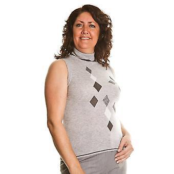 BASLER серый свитер 332407