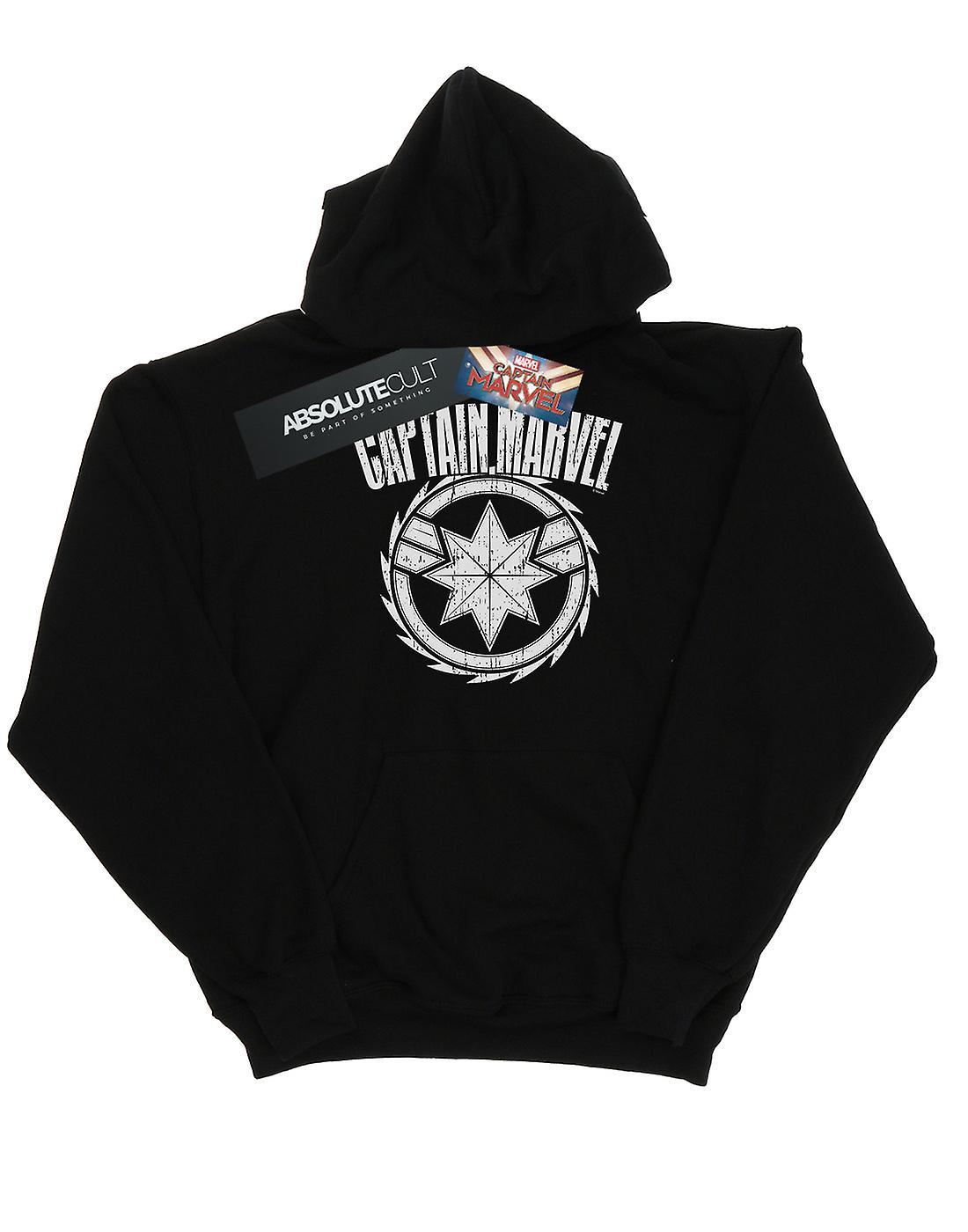Marvel Boys Captain Marvel Blade Emblem Hoodie