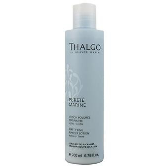 Thalgo Pureté marine Mittifying powder lotion ultra-comfortable face water 200 ml