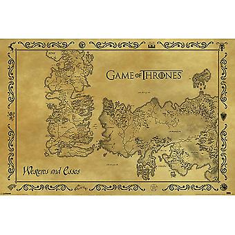 Game Of Thrones antico mappa Poster