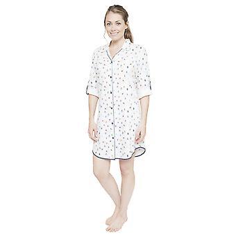 إسبن للمرأة سيبيرجاميس 4086 أبيض قميص النوم الطباعة التزلج يمكنك نايتشيرت